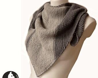 Baby Alpaca Triangle Knit Shawl-Womens Knit Shawl-Luxurious Knit Shawl-Triangle Scarf-Bandana-Hand Knit Scarf-Knit Wrap