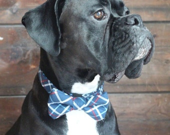Plaid Dog Bow Tie. Wedding Doggie Bow Tie Accessory