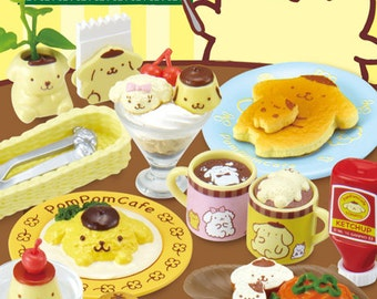 2015 / Full Set Of 8 / Re-ment / Pom Pom Purin / Cafe / Dollhouse Miniatures Collectibles / Candy Food Toy