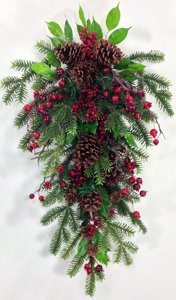 Christmas swag holiday swag christmas wreath holiday for Christmas swags and garlands to make