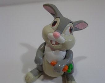 Vintage Collectible Disney Bambi Thumper Bunny Rabbit Poseable PVC Figurine 80s Toy, Walt Disney, Disneyana