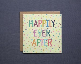 Happily Ever After // Congratulations Card // Wedding Card