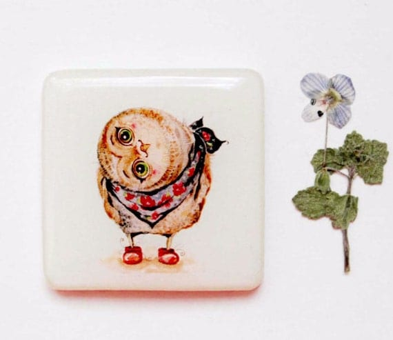 Items similar to cute owls gift for girlfriend gift for Owl kitchen accessories