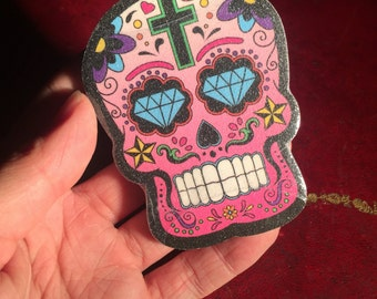 Day of the Dead Emery Board Nail File Mexican sugar skull manicure set