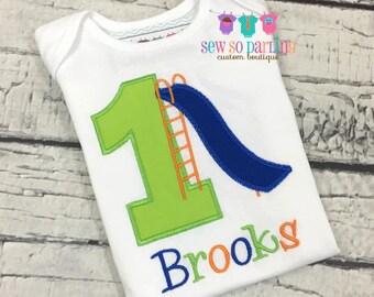 Boy Playground Birthday Shirt - Playground Birthday Party Shirt - Boy 1st Birthday Outfit - Boy Park Birthday Shirt - Slide Birthday Shirt
