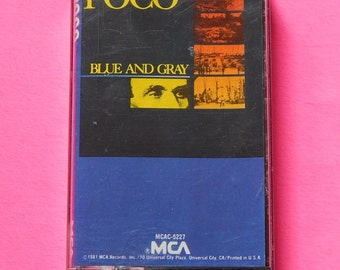 1981 Poco Blue and Gray Cassette Tape Music