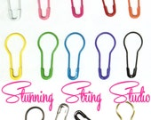 NEW SIZES!  Locking Stitch Markers - Set of 25, 50, 100 or 200 - Choice of 14 colors