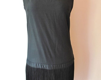 1960s-does-20s Fringe Mini Dress