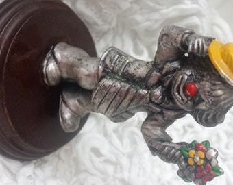 Miniature Clown Pewter by George Good figurine flowers