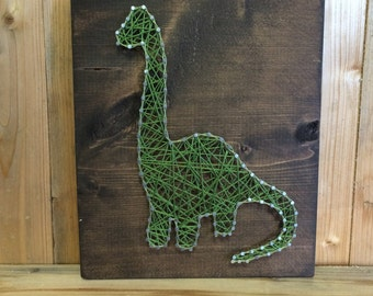 Dinosaur String Art - String Art - Dinosaur Decor - Dino Sign - Decor for Boys Room - Nursery Decor - Boy's Decor - Dinosaur Gift