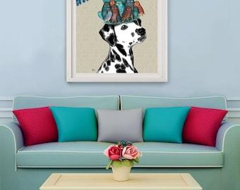 Dalmatian Art print - Milliners Dog - dalmatian print Dalmatian painting Dalmatian decor dog lover gift girlfriend Dalmatian gift