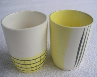 a vintage SET of TWO Small Japanese Sake Drinking Cups