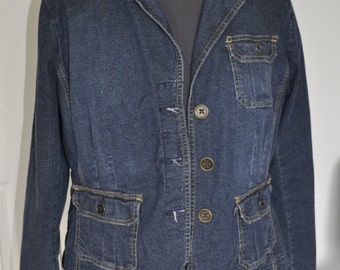 Vintage short, stretch Jean jacket. Made by St. John's Bay-  Sz XL