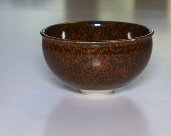 small kaki porcelain tianmu bowl/ cup