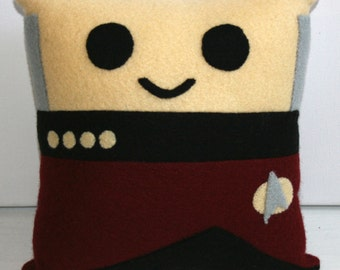 Star Trek Captain Jean-Luc Picard Mini Felt Cushion