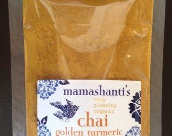 mamashanti's very pleasing organic golden turmeric chai 125 g refill bag
