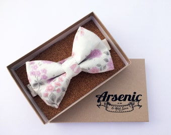 Floral bow tie | mens bow tie | lilac bow tie | pink bow tie | boys bow tie | toddler bow tie | vintage bow tie | womens bowtie