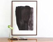 Black Art Print, Large Abstract Art, Black and White Painting, Modern Wall Art Print