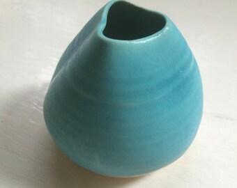 tiny turquoise vase