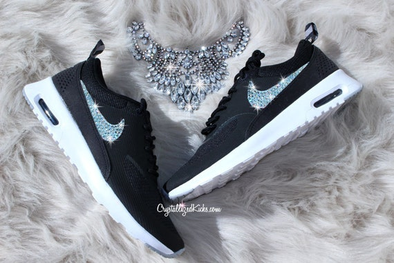 items similar to nike air max thea made with swarovski. Black Bedroom Furniture Sets. Home Design Ideas