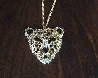 gold leopard necklace, leopard necklace, leopard, tiger necklace, lion necklace, animal necklace, gold necklace, necklace