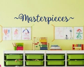 Masterpieces Wall Decal - Kids wall decals - Masterpieces Wall art -  Childrens Playroom Wall Decals - Masterpieces -