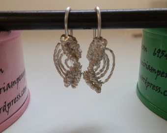 Metal macramé earrings