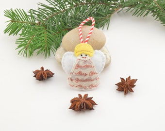 Angel, Christmas decoration, Christmas tree decoration, handmade decoration, Felt decoration, Felt Christmas ornament, Christmas ornament