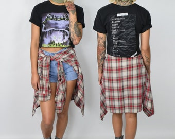 Metallica Shirt / Grunge Top / Creeping Death / Crop Top T Shirt
