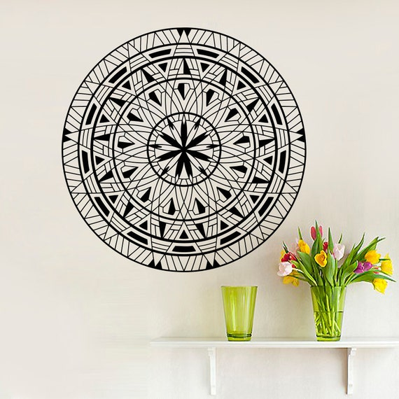 Mandala wall decals yoga ganesh decal fashion by decalhouse for Mural mandala