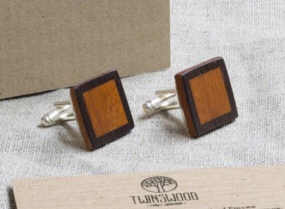 Double Wood Cufflinks. Personalized Cuff Links. Laser Engraved Monogrammed Initial Wooden Cufflinks. Сustom cufflinks. Groomsmen Gift. Xmas