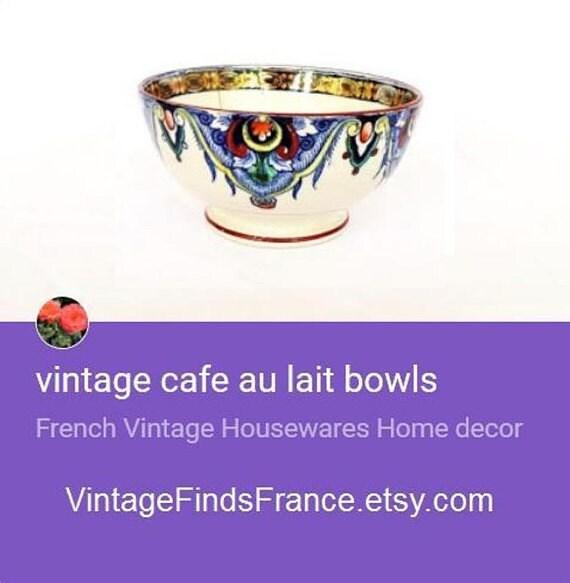 Vintage Cafe Au Lait Bowls 75