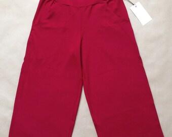 Women's pants - Strech pants - Comfortable - Yoga - Exercise - Mid-lenght - Large waistband - Truffe pants cranberry -20% off!