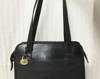 Free Ship Dooney and Bourke All Weather Leather Purse Black Shoulder Bag
