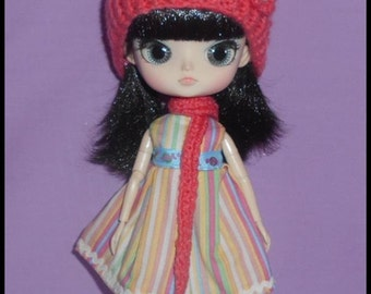 Hat and Scarf for Dal Doll.