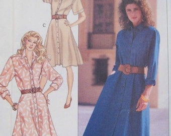 Misses' Dress pattern. Size 12-14-16. Butterick 6566. Uncut and Factory folded.
