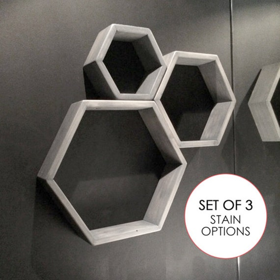 sale set of 3 hexagon floating shelves 8 12 amp by