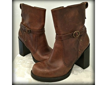 Leather boots, Women's brown boots, Dress shoes, Cowgirl boots, Stylish leather boots, Size 10 shoes, Western boots