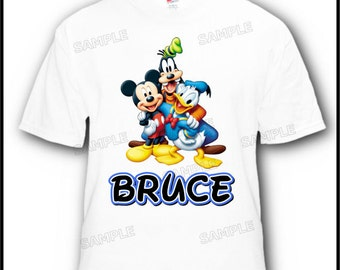 Personalized Mickey Mouse Donald Goofy Disney Vacation or Birthday T-Shirt
