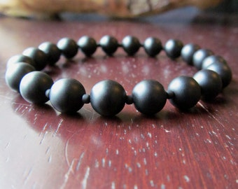 Matte Black Onyx Bracelet, Black Bracelet, Onyx Bracelet, Stacking Bracelet, Gift for Men, Men's Jewelry, Beaded Bracelet, Men's Fashion