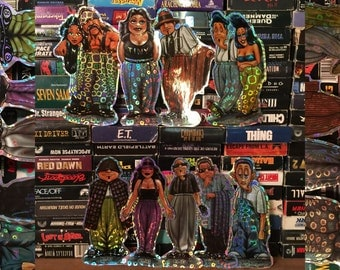 """Vintage Huge Homies Stickers Die Cut Reflective Shiny 6"""" 6.5"""" 7"""" Tall Stickers 90s 1990s Latinx Dope Los Angeles Cholo Chola"""