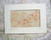 Penny farthing bike letterpress print. Bicycle art print. Letterpress bike lover print gift.