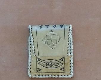 Vintage Leather Billfold Wallet Souvenir North Africa