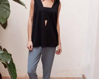 20% off Grey high waisted pants women,loose pants,high waisted trousers,casual pants,work pants,elastic waist pants,slim