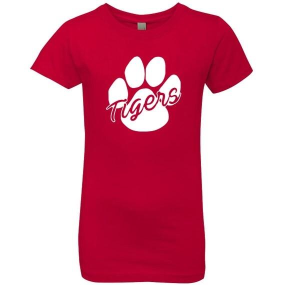 Tiger Mascot Shirt School Spirit Shirt Red Girls T Shirt