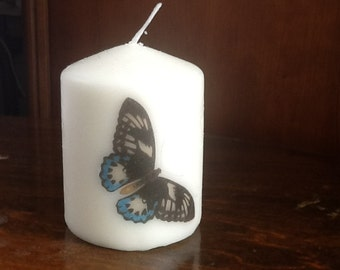 Butterfly votive candle