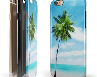 Paradise Beach Palm Tree - Candy Shell Hybrid Two-Piece iPhone Case