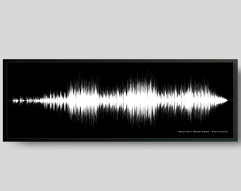 Custom Song Sound Wave Art Print - Any Song, Music Wall Art - Gift for Musician, For Music Lover, DJ Gift Ideas - Ex. Wish You Were Here