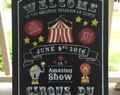 Custom 18x24 Circus Theme Chalkboard Style Handpainted Plaque Sign