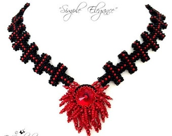 "Beading pattern ""Simple Elegance"" Necklace in English   D.I.Y"